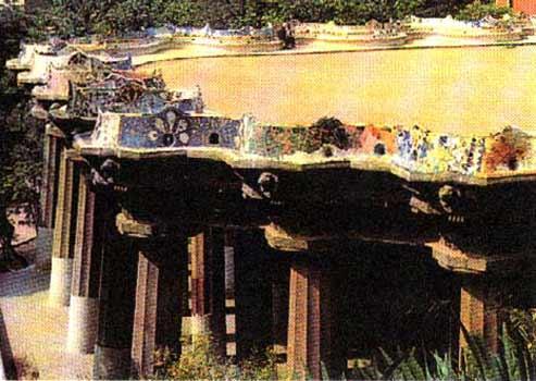 Антонио гауди парк гуэль галерея